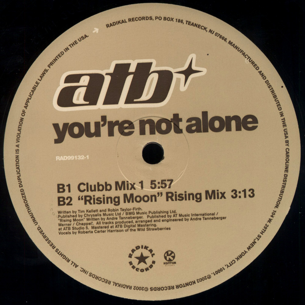 ATB - You're Not Alone EP